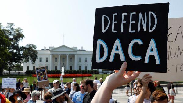 Manifestación a favor de DACA en EEUU (archivo) - Sputnik Mundo