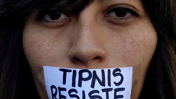 Activista en contra de las políticas del Gobierno boliviano en el TIPNIS - Sputnik Mundo