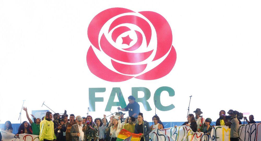 Acto de la FARC en Bogotá, Colombia (archivo)