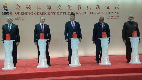 Presidentes de los países del grupo BRICS - Sputnik Mundo