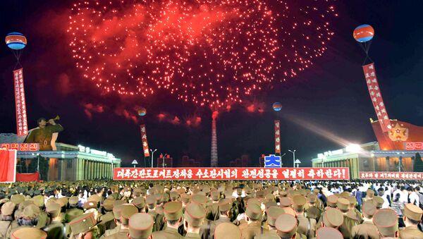 Las celebraciones en Pyongyang tras el exitoso ensayo de la bomba de hidrógeno - Sputnik Mundo
