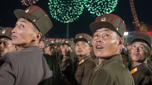Las celebraciones en Pyongyang tras el exitoso ensayo de la bomba de hidrógeno, Corea del Norte, 6 de septiembre de 2017 - Sputnik Mundo