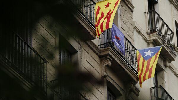 Esteladas, banderas independentistas de Cataluña - Sputnik Mundo