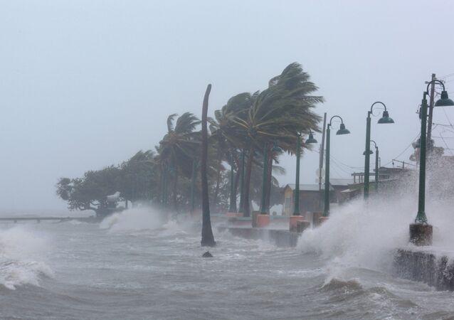 El paso del huracán Irma en República Dominicana