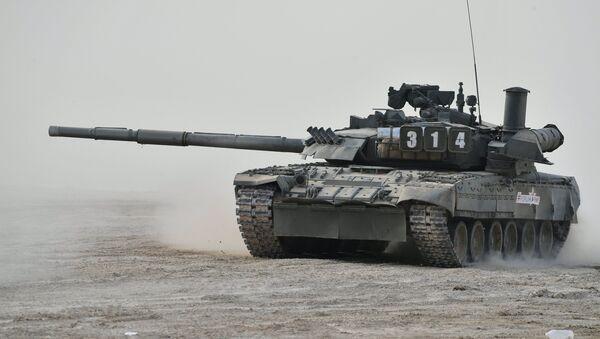 El tanque T-80U durante la demostración en el marco del Foro Internacional Técnico Militar Army 2017, Rusia, 22 de agosto de 2017 - Sputnik Mundo
