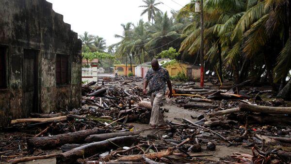 El huracán Irma en República Dominicana - Sputnik Mundo