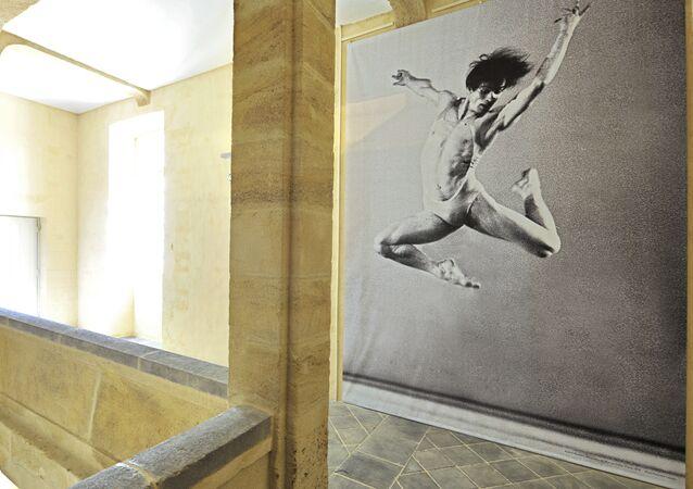 Un retrato de Rudolf Nureyev, bailarín ruso