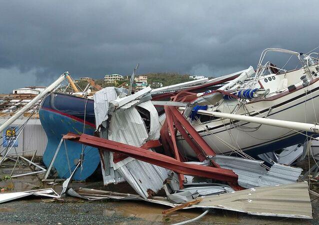 Las consecuencias del huracán Irma en las Islas Vírgenes