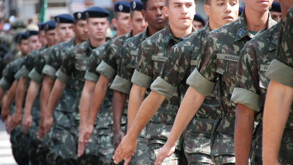 Desfile del Ejército de Brasil  - Sputnik Mundo