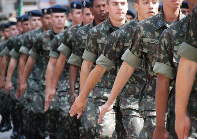 Desfile del Ejército de Brasil