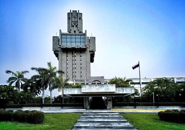 La embajada de Rusia en Cuba