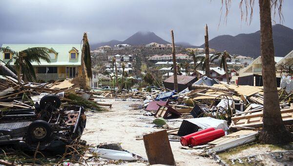 Daños en la isla caribeña francesa de Saint-Martin, después del paso del huracán Irma - Sputnik Mundo