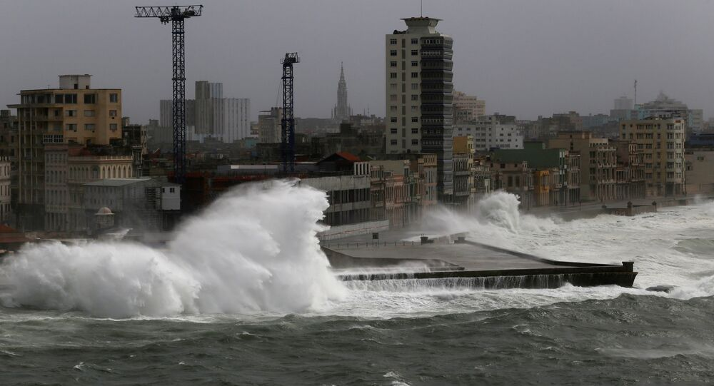 El paso del huracán Irma por La Habana, Cuba, 9 de septiembre de 2017