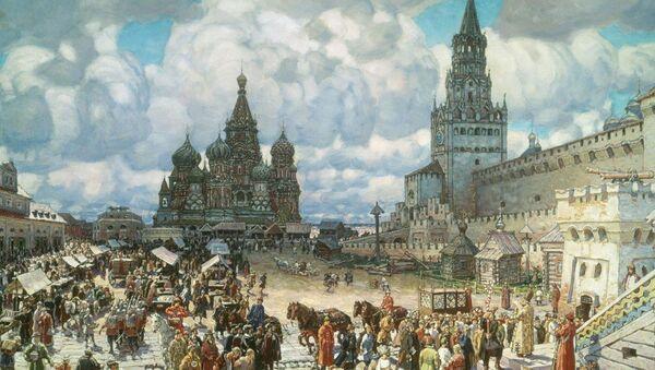 La plaza Roja de Moscú en el siglo XVII, cuadro del artista Apolinari Vasnetsov - Sputnik Mundo