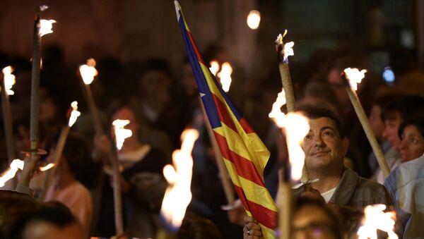 Demostración por la independencia en Cataluña - Sputnik Mundo