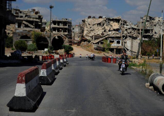 La situación en Homs, Siria (archivo)