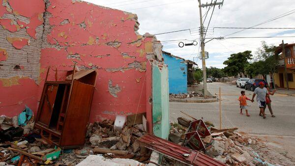Consecuencias de un terremoto en México - Sputnik Mundo