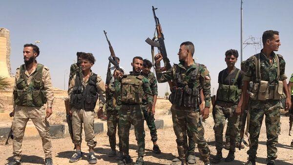 Soldados sirios (archivo) - Sputnik Mundo