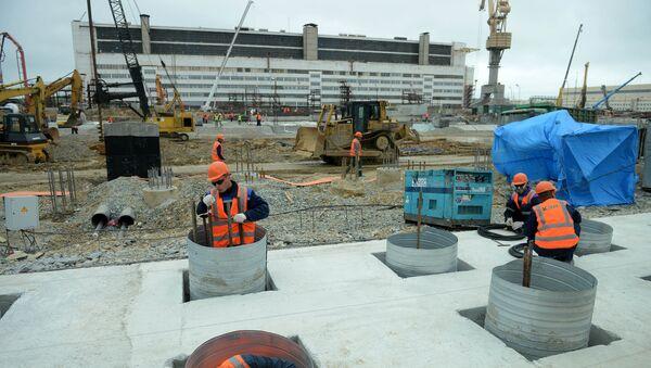 La construcción de nuevos edificios del astillero Zvezda en Primorie - Sputnik Mundo