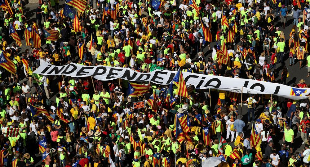 La manifestación de la 'Diada del Sí' en Barcelona
