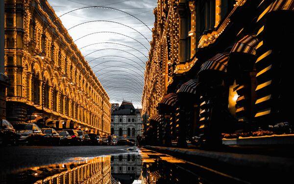 El edificio histórico de GUM, centro comercial cerca del Kremlin de Moscú, Rusia - Sputnik Mundo
