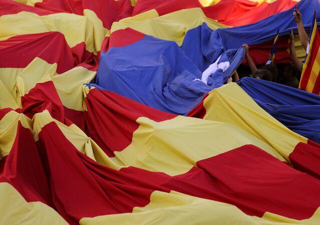 La bandera independendista de Cataluña