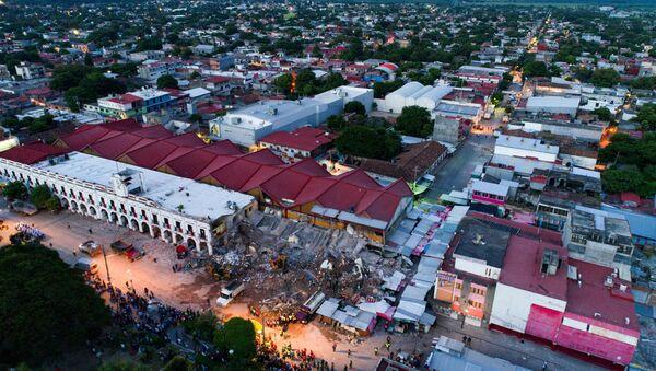 Vista del daño causado por el terremoto en Juchitan de Zaragoza, en el sureño estado mexicano de Oaxaca - Sputnik Mundo