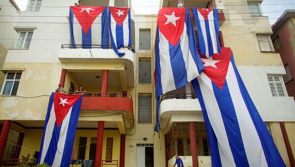 Las banderas de Cuba se secan tras el huracán Irma - Sputnik Mundo