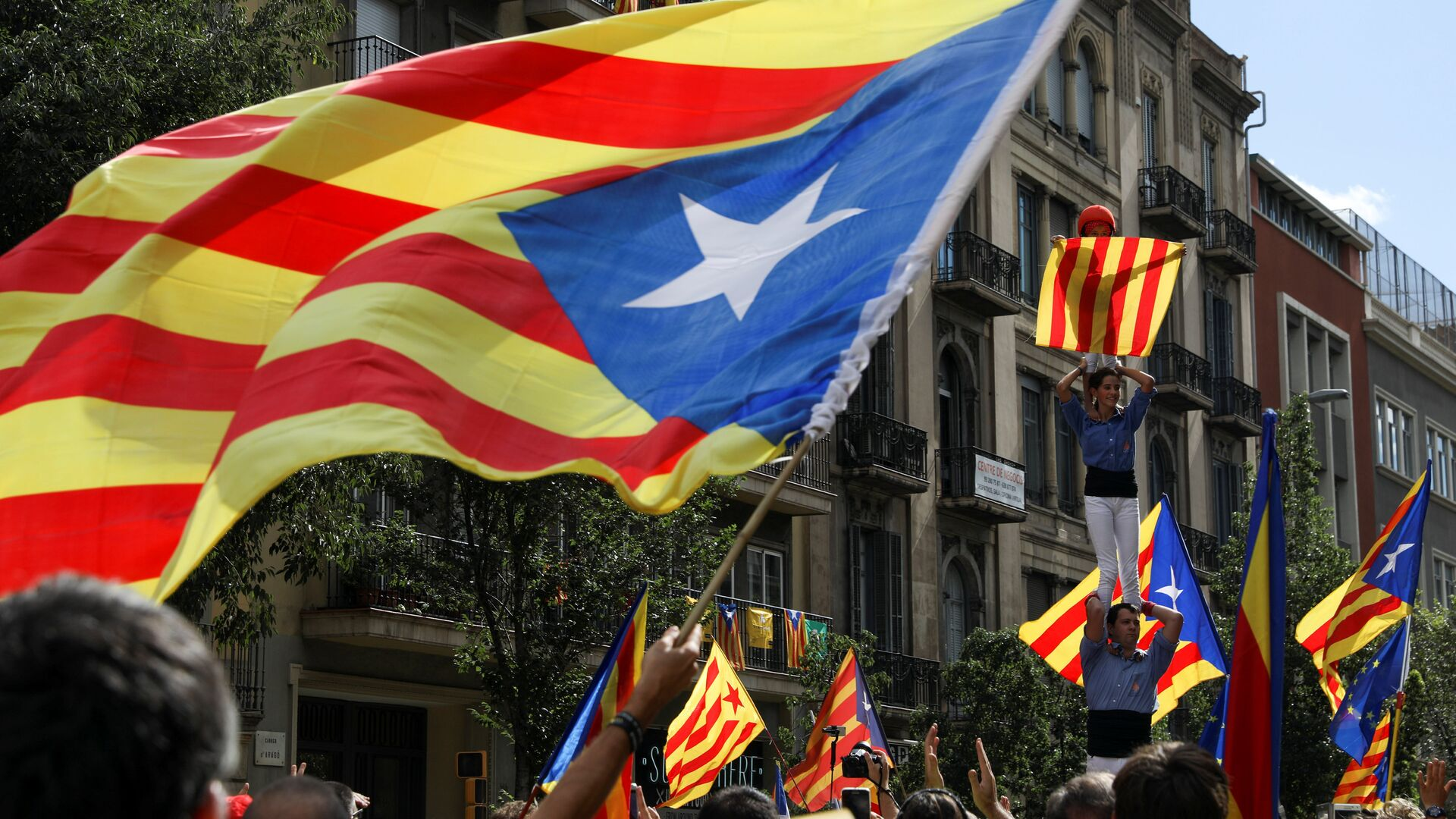 Estelada, bandera independentista de Cataluña - Sputnik Mundo, 1920, 10.09.2021