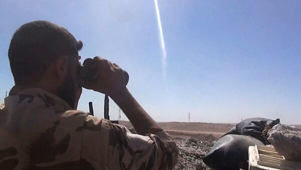 Soldado del Ejército sirio  (archivo) - Sputnik Mundo