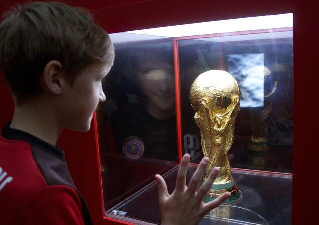 El trofeo del Mundial