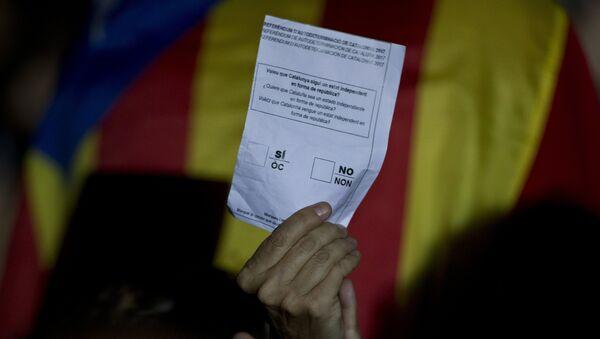 Un boletín no ofical del referéndum de autodeterminación de Cataluña - Sputnik Mundo