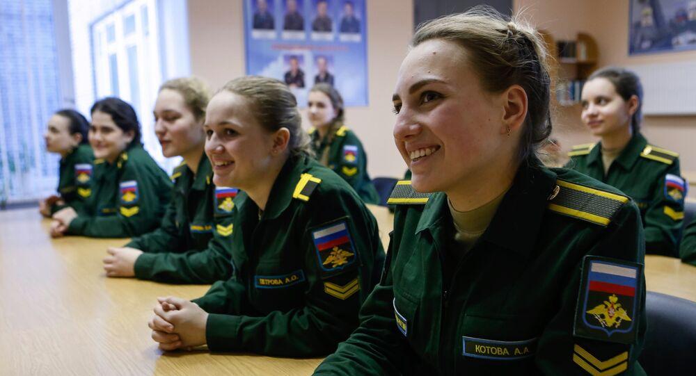 Estudiantes de una academia militar rusa