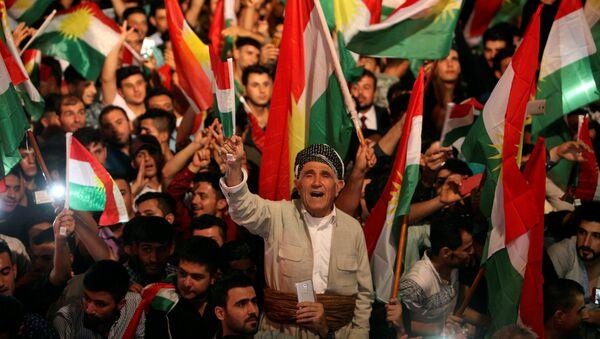 Partidarios del referéndum en el Kurdistán iraquí - Sputnik Mundo
