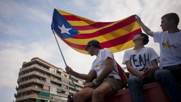 Diada 2017: así fue la marcha por la independencia catalana - Sputnik Mundo