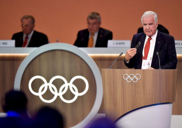 Sir Craig Reedie, miembro de COI y WADA, en Lima (archivo)