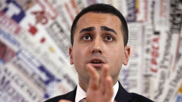 Italy's 5-Star Movement and Italian Low Chamber vice President Luigi Di Maio  - Sputnik Mundo