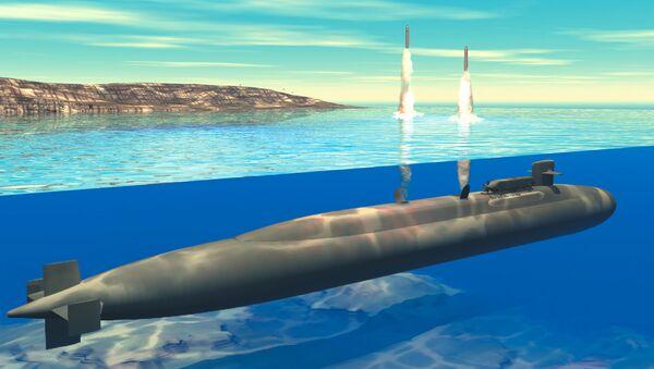Submarino de clase Ohio (ilustración gráfica) - Sputnik Mundo