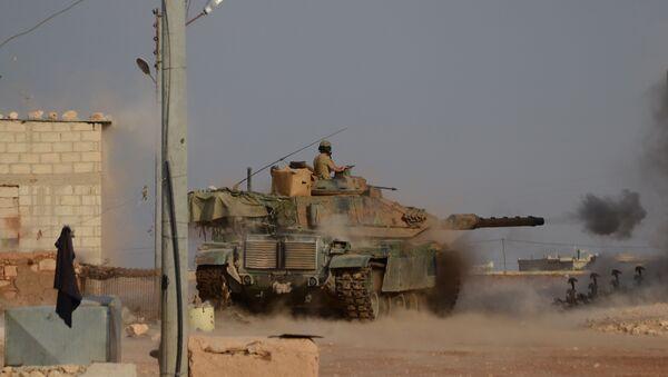 Un tanque turco en Siria - Sputnik Mundo