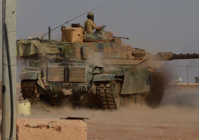 Un tanque turco en Siria