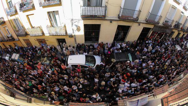 Los partidarios de la independencia de Cataluña en Madrid - Sputnik Mundo