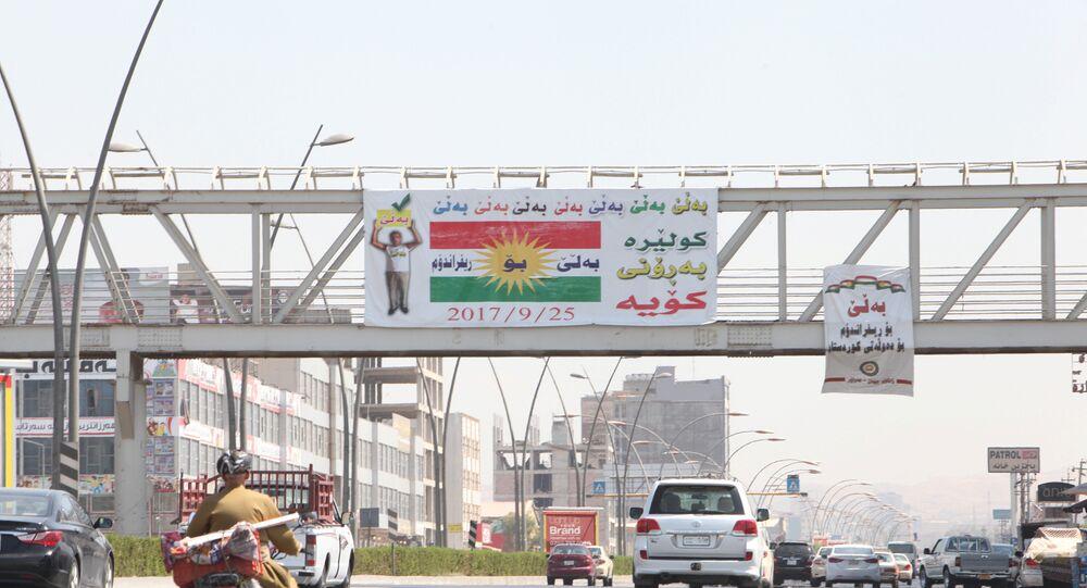 Cartel a favor de la independencia del Kurdistán iraquí