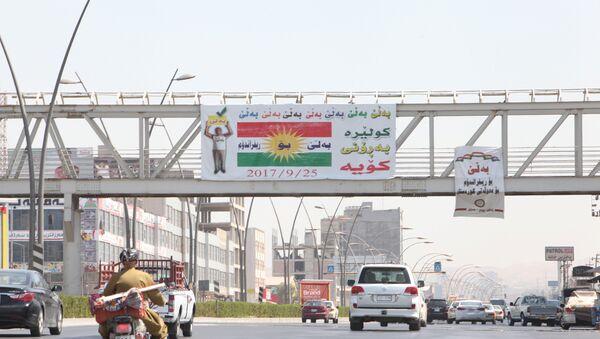 Cartel a favor de la independencia del Kurdistán iraquí - Sputnik Mundo