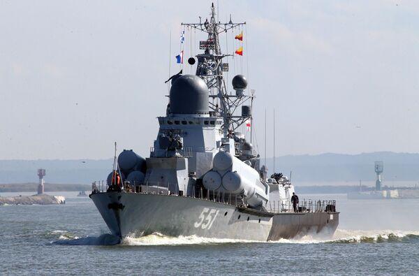 La gloria de la Flota del Báltico, plasmada en las maniobras Zapad 2017 - Sputnik Mundo