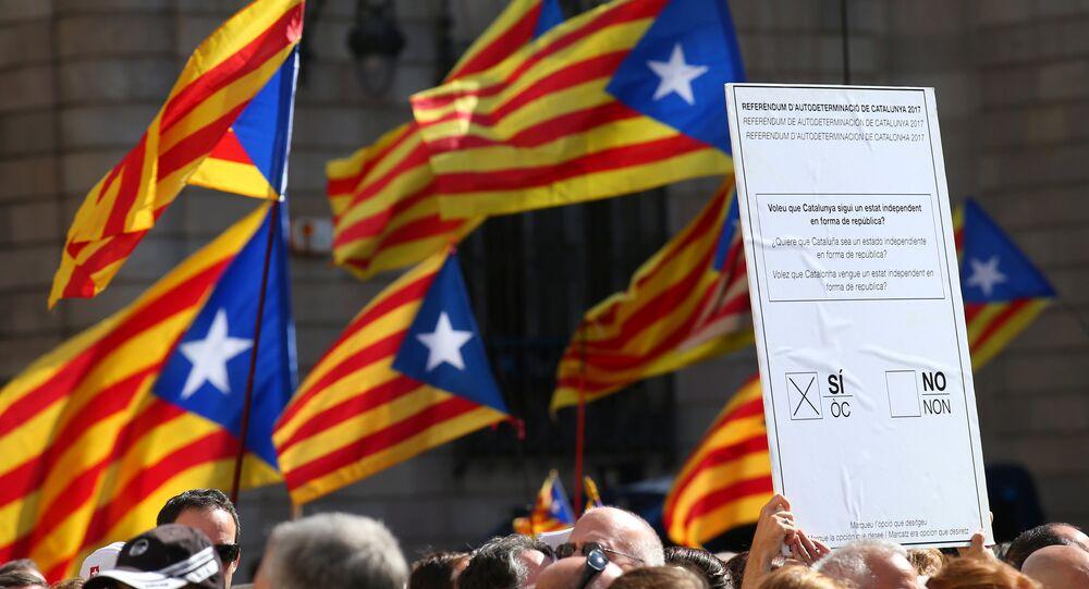 Manifestación a favor del referéndum en Cataluña (archivo)