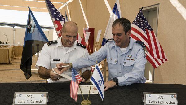 La inauguración de la base militar conjunta de Israel y EEUU - Sputnik Mundo