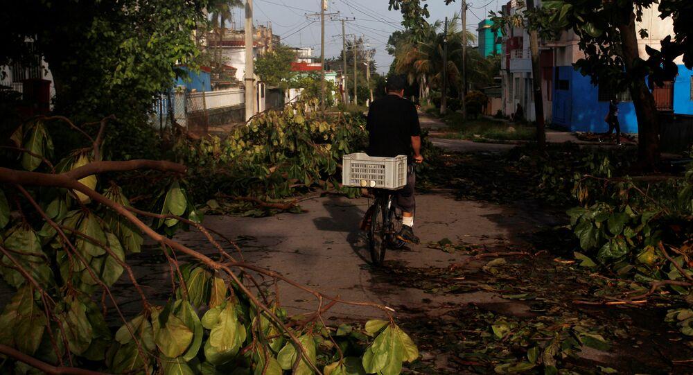 Consecuencias del huracán Irma en la Habana, Cuba (archivo)