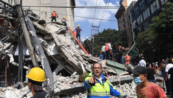 Las consecuencias del terremoto en Puebla, México - Sputnik Mundo