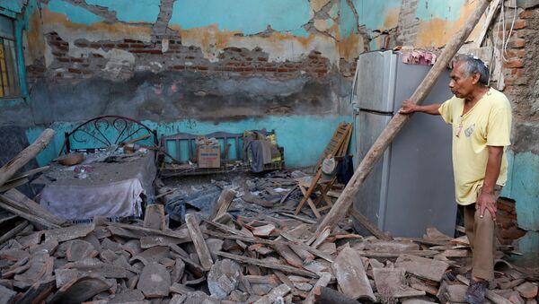Las consecuencias del terremoto en Oaxaca, México (archivo) - Sputnik Mundo