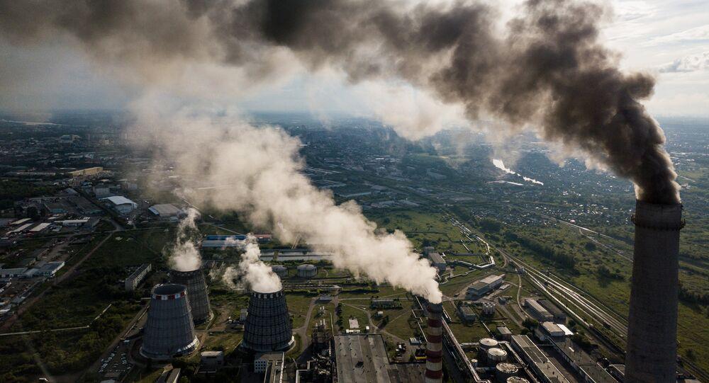 Una planta eléctrica en  Rusia (imagen referencial)